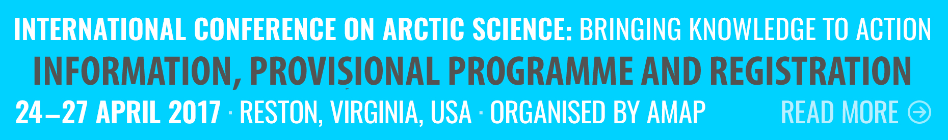 International Conference on Arctic Science: Information, provisional programme and registration