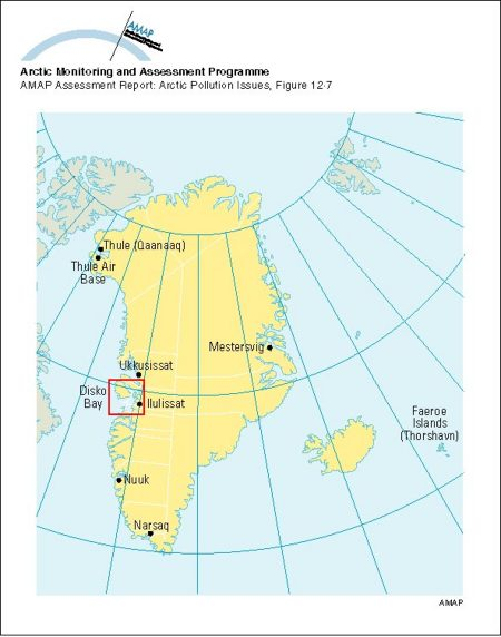 Human health study locations in Greenland and the Faeroe ...